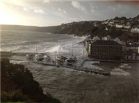 Tidal surges hit Island - picture
