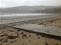 Port Erin beach warning - picture