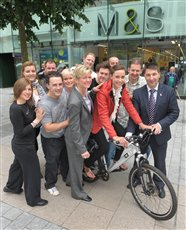 M&S Douglas employee gears up for £1 Charity Cycle Challenge - picture