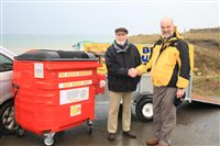 Big bin on the beach - picture