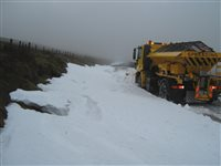 Gritters help to keep Island moving during wintry weather - picture