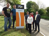 TT corner named in memory of Raymond Caley - picture
