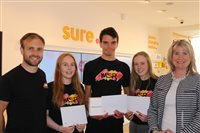 Sporty youngsters praised for volunteer work - picture