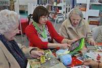 Manx Lottery Trust funded iPads assisting during therapy for older people - picture