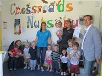 It's all smiles at Crossroads' Nursery - picture