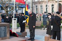 Ramsey Civic Service of Remembrance attended by HE the Lieutenant Governor - picture
