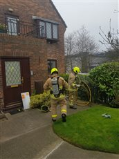 Kitchen fire at Saddle Mews - picture