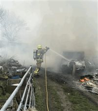 Out of control bonfire sparks fire call out - picture