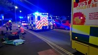 Motorist cut from car after crash - picture