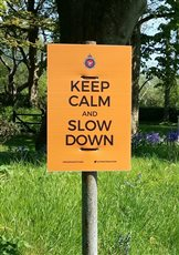 Police urge people not to steal road safety signs - picture