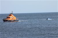Family rescued after engine trouble at sea - picture