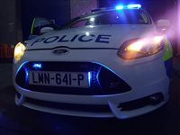 Investigation after police van is involved in crash - picture