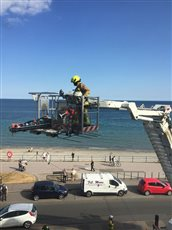 Casualty rescued from hotel room - picture