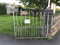Church gates damaged after crash - picture