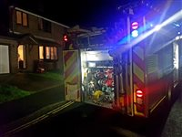 Candle sparks house fire in Douglas - picture