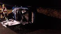 Car has roof cut off after crash near Creg - picture