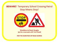 Motorists urged to slow down outside school  - picture