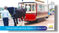 Horse tram service starts on new rails - picture
