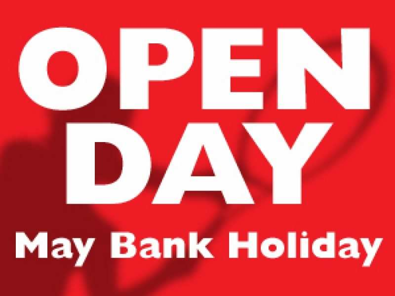 Open May Day Bank Holiday 10 to 4, come and grab a bargain