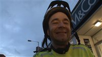 Cyclist starts his charity ride