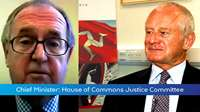 Chief Minister Briefing: UK Justice Committee meeting