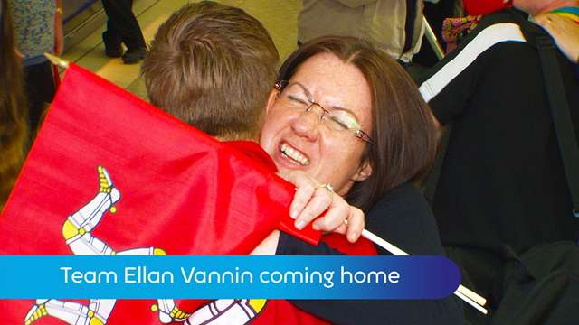 Preview of - Team Ellan Vannin coming home