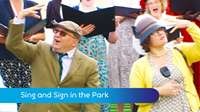 Sing & sign in the park