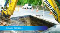 Sewer collapse