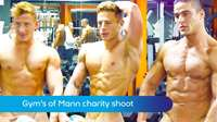 Gym guys charity calendar shoot