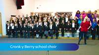 Cronk y Berry school choir