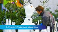 A Frozen Christmas attraction