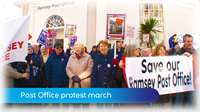 Ramsey Post Office protest march