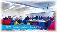 Scallops, food & Tesco