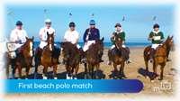 First beach polo match