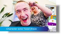 Character actor head shave