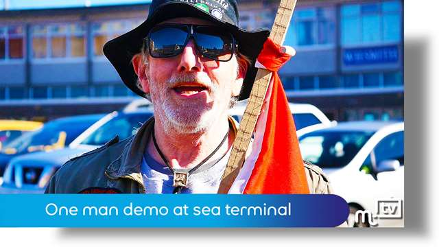 Preview of - One man demo at sea terminal