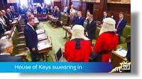 Manx language commentary: MHK's swearing in