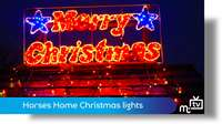 Horses Home: Christmas lights