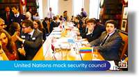 Mock UN Security Council event