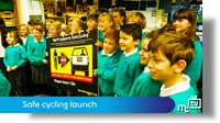 Safe cycling launch