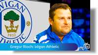 Wigan Athletic coaching session