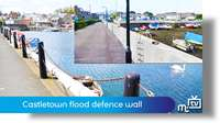Castletown flood defence wall