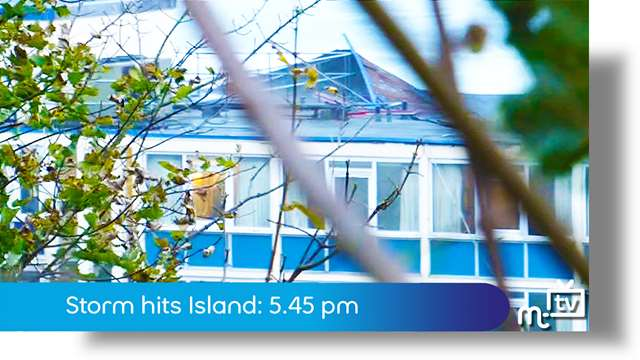 Preview of - Storm hits Island: 5.45 pm