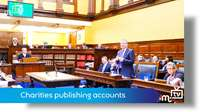 Legislation relating to charities publishing accounts