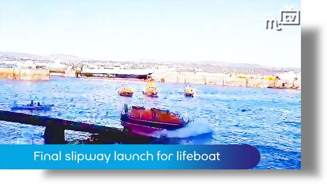 Preview of - Final slipway launch for Douglas lifeboat