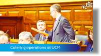 March Tynwald: catering operations at UCM