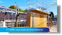 TT 2018: new look at grandstand