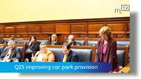 Tynwald Oct 18: Q25 improving car park provision
