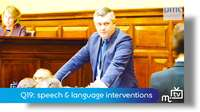 Q19: speech & language interventions