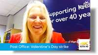 Post Office: Valentine's Day strike
